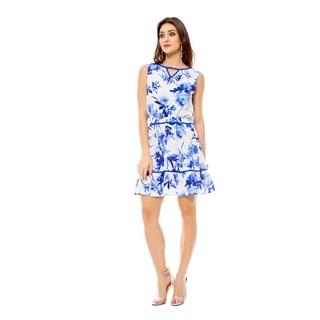 Sara Boo Women's Blue Floral Dress