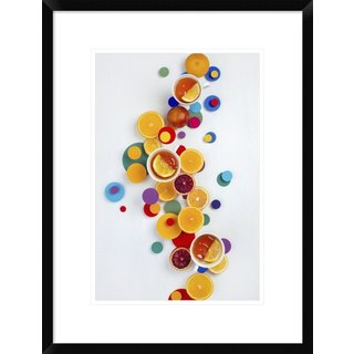 Global Gallery, Dina Belenko 'Suprematic Teatime' Framed Giclee Print