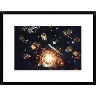 Global Gallery, Dina Belenko 'Supernova On My Plate' Framed Giclee Print