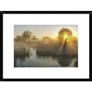 Global Gallery, Ellen Borggreve 'Wisps Of Mist And Sunlight' Framed Giclee Print