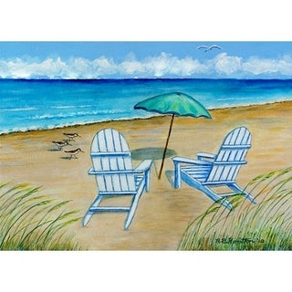 Adirondack Chairs Outdoor Wall Hanging 24x30