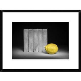 Global Gallery, Christophe Verot 'Yellow' Framed Giclee Print
