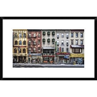 Global Gallery, Peter Pfeiffer 'A Cold Day In Ny' Framed Giclee Print