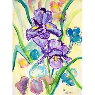 Two Irises Outdoor Wall Hanging 24x30