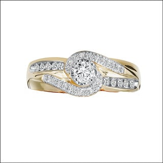 Cambridge 14k Gold 1/2ct TDW Diamond Engagement Ring
