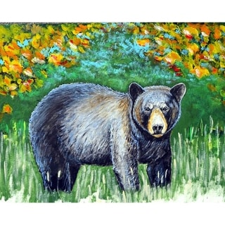 Black Bear Outdoor Wall Hanging 24x30
