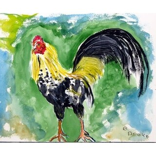 Bantam Rooster Outdoor Wall Hanging 24x30