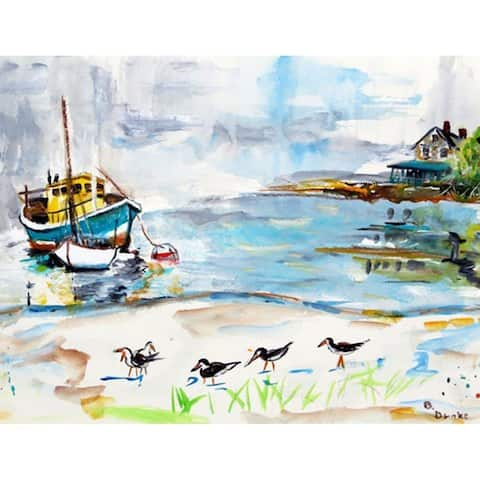 Boats & Sandpipers Outdoor Wall Hanging 24x30