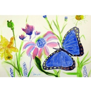 Betsy's Blue Morpho Outdoor Wall Hanging 24x30
