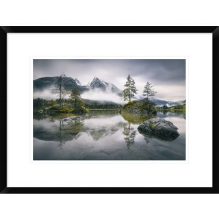 Global Gallery, Dirk Wiemer 'Rainy Morning At Hintersee (Bavaria)' Framed Giclee Print