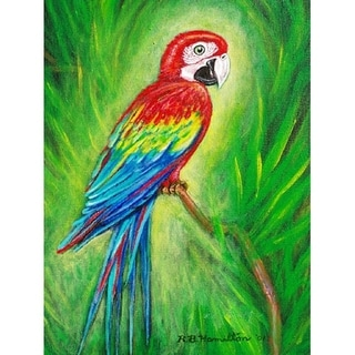 Red Macaw Outdoor Wall Hanging 24x30