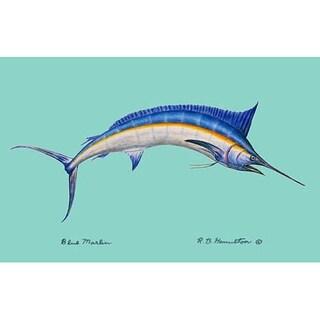 Blue Marlin Outdoor Wall Hanging 24x30
