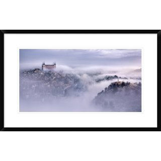 Global Gallery, Jesus M. Garcia 'Toledo City Foggy Morning' Framed Giclee Print