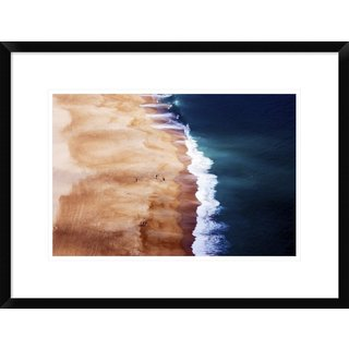Global Gallery, Cbomersphotography 'Silver Coast' Framed Giclee Print