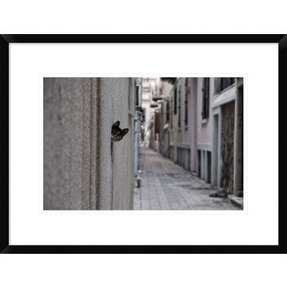 Global Gallery, Ali Ayer 'Dantel Street Cat' Framed Giclee Print