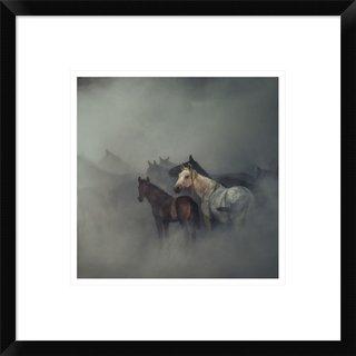 Global Gallery, Huseyin Taskin 'The Lost Horses' Framed Giclee Print