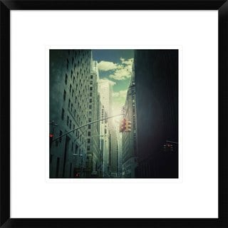 Global Gallery, Ambra 'Downtown' Framed Giclee Print