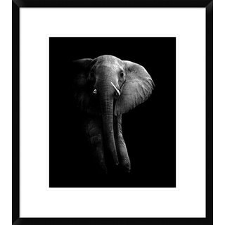 Global Gallery, Wildphotoart 'Elephant!' Framed Giclee Print