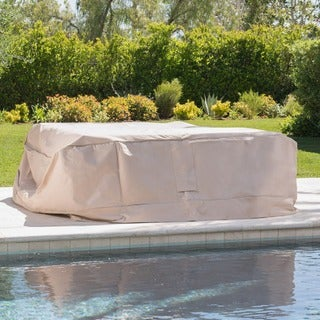 Top Rated · Shield Outdoor Waterproof Fabric Chat Set Patio Cover By  Christopher Knight Home