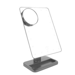 Adjustable Brightness LED 10x Magnification Mirror