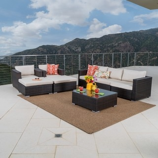 Santa Rosa Outdoor 8-piece Wicker Sectional Sofa Set with Cushions by Christopher Knight Home