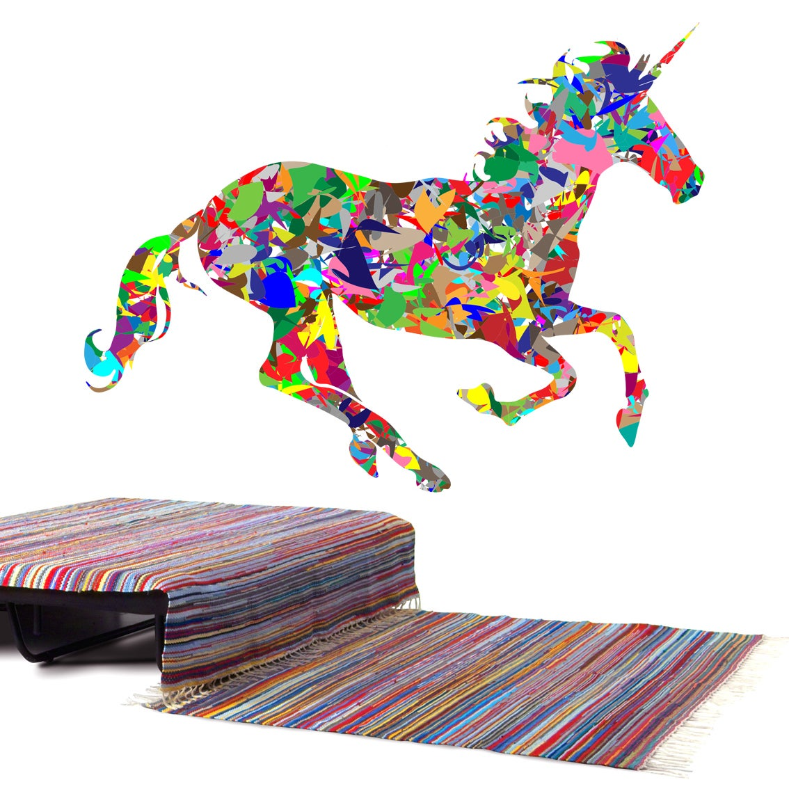 1x Running Horses Auto Car Vehicle Self-Adhesive Sticker Waterproof Decal Decor