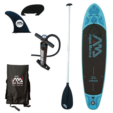 Aqua Marina Vapor SUP Inflatable Stand Up Paddle Board w/ 3-Piece Paddle Set (10'10)