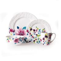 Gourmet Basics by Mikasa Meadow Violet 16-piece Dinnerware Set (Service for 4)