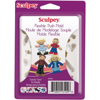 Sculpey Flexible Push Mold-Family Time