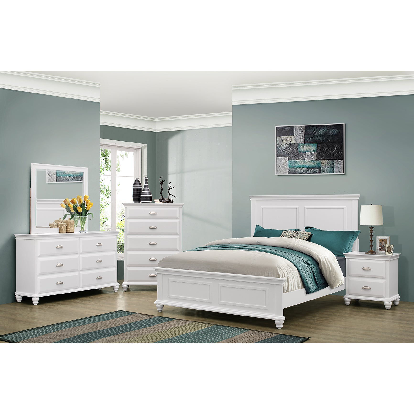 Simmons Casegoods Cape Cod Collection 3 Piece Queen/ King Bedroom Set