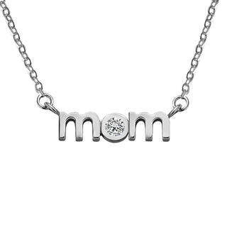 10K Gold Block Letter MOM Pendant with Cubic Zirconia - Mother's Day Pendant|https://ak1.ostkcdn.com/images/products/15219125/P21694771.jpg?impolicy=medium