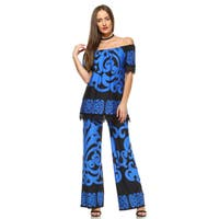 Print from Tip to Toe 2-piece Top and Pants Set