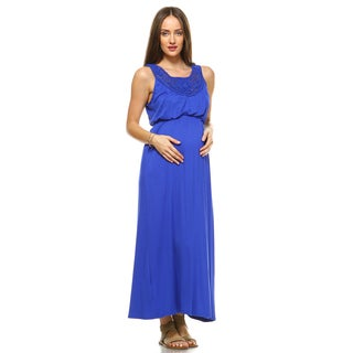 White Mark Kadyn Maternity Maxi Dress