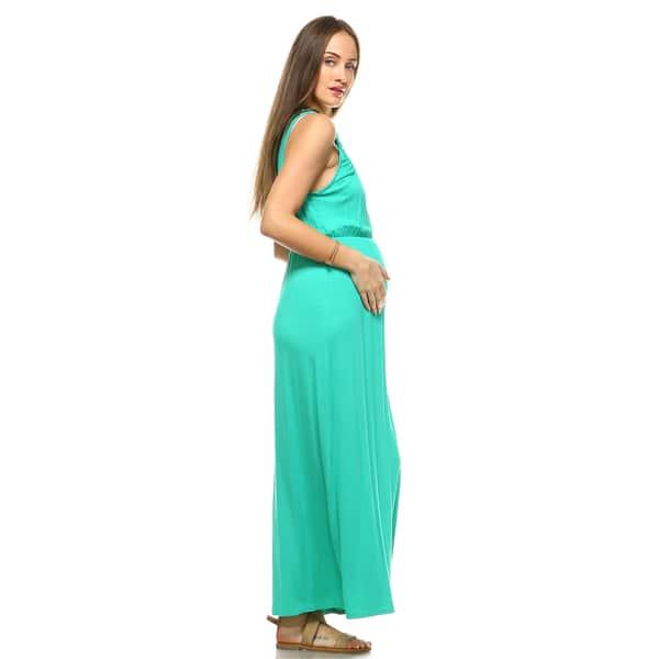 White Mark Kadyn Maternity Maxi Dress Overstock 15219426