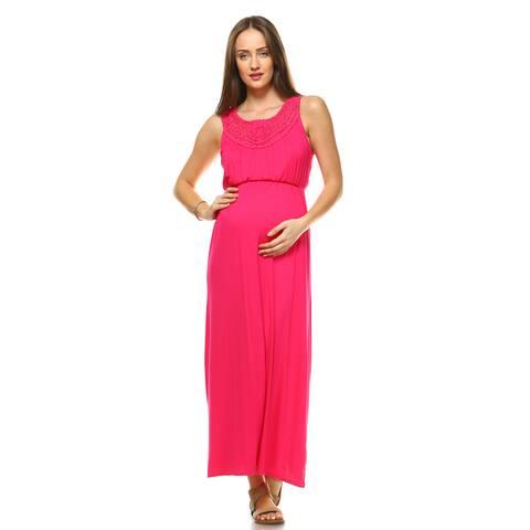 White Mark Kadyn Maternity Maxi Dress