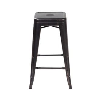 Black Iron 26.4-inch Industrial Counter Dining Barstools (Set of 4)