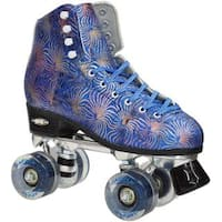 Epic Dazzle Blue High-Top Quad Roller Skates