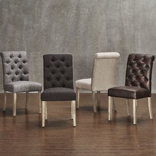 Avingdon Tufted Rolled Back Light Distressed Natural Dining Chairs (Set of 4)|https://ak1.ostkcdn.com/images/products/15219586/P21695182.jpg?impolicy=medium