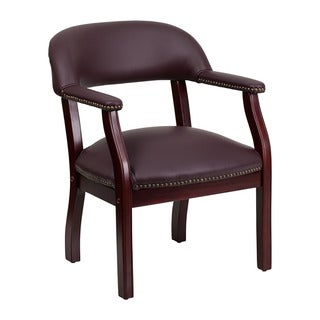 Offex Burgundy Leather Conference Chair