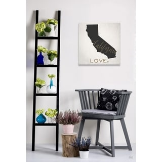Oliver Gal 'California Love' Canvas Art - White/Black