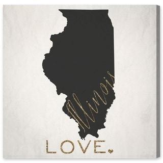 Oliver Gal 'Illinois Love' Canvas Art - Multi