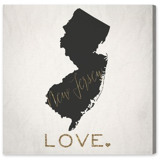 Oliver Gal 'New Jersey Love' Canvas Art - White