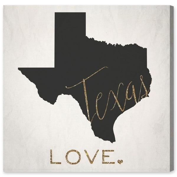 Oliver Gal 'Texas Love' Canvas Art - Black