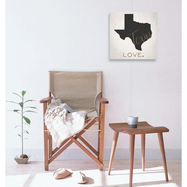 Oliver Gal 'Texas Love' Maps Wall Art Print on Premium Canvas - gray