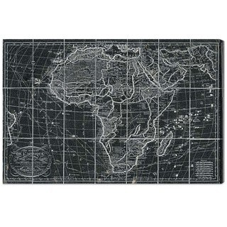 Hatcher and Ethan 'Africa Map 1829' Canvas Art - Black/White
