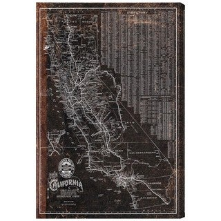 Hatcher and Ethan 'Southern Pacific California Roadrail map 1901' Canvas Art