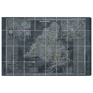 Hatcher and Ethan 'Map of Madrid 1861' Canvas Art - Black/White