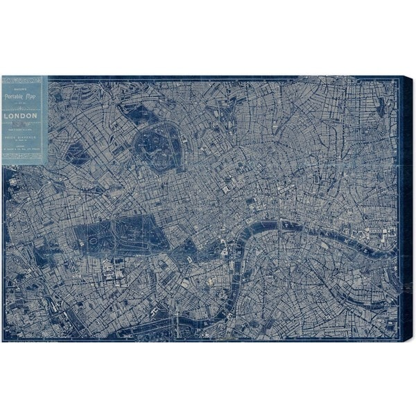 Hatcher and Ethan 'London Map 1899' Canvas Art