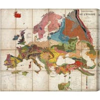 Oliver Gal 'C Canvas Arte Geologique De L'Europe Map 1875' Canvas Art - Multi
