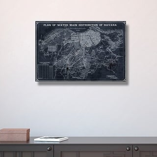 Hatcher and Ethan 'Map of Havana Water Distribution 1899' Canvas Art